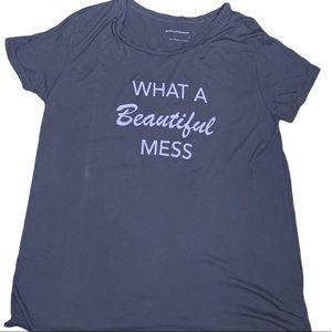 """Good hYouman """"What a Beautiful Mess"""" Grey T-Shirt"""